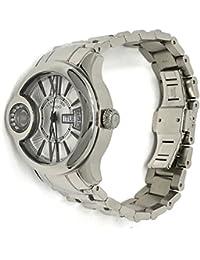 Cerruti 1881Diamond crwdm043a211N reloj 38mm con 8Real correa de acero movimiento de diamantes, inoxidable, fabricada en Suiza, color plateado