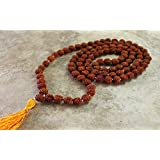 5 Mukhi Rudraksha Mala 100% Original 108 Beads + 1 Bead - 7 MM With Lab Certification