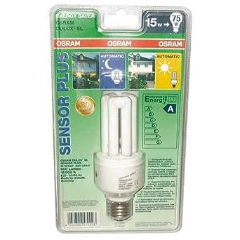 osram 61739b1 dulux el sensor sockel e27 energiesparlampe mit d mmerungsschalter 15w 827. Black Bedroom Furniture Sets. Home Design Ideas