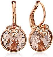 SWAROVSKI Women's Bella V Pierced Earrings, Pink, Rose-gold tone pl