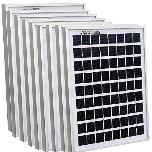 ECOWORTHY 45Watt 9pcs 5W Watt Solar Panel Ploy Solar Module 12V Battery Charger for Caravan Boat Power - Linear Battery Charger Controller
