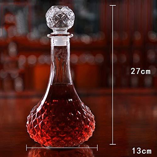 Gonfleur à Vin Avec Décanteur Pour Bouteilles Fast Creative Classic de 1L - Verre En Cristal Sans Plomb Soufflé à La Main à 100%, Carafe à Vin Rouge, Bouteille de Whisky, Cadeaux de Vin, Accessoires P