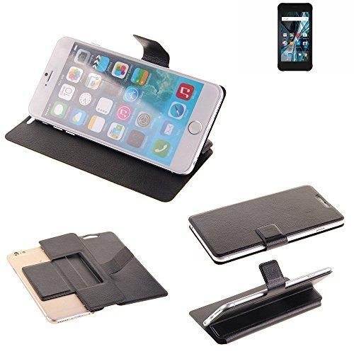 K-S-Trade Schutz Hülle für Archos Sense 47X Schutzhülle Flip Cover Handy Wallet Case Slim Handyhülle bookstyle schwarz