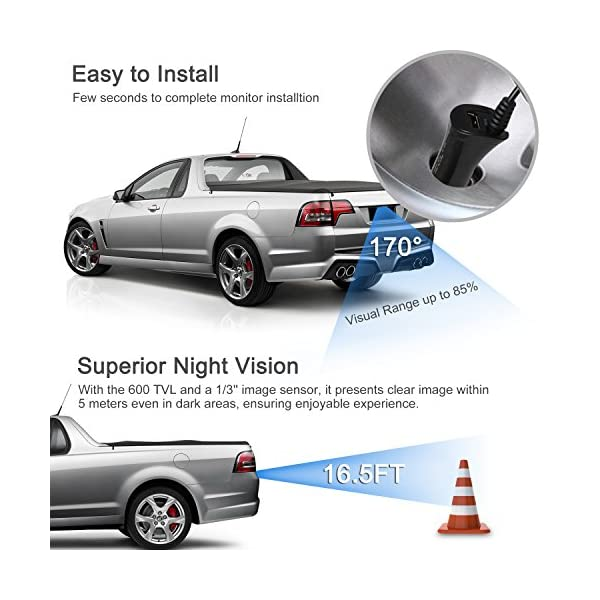 Boscam K1 Wireless Reversing Camera, Wide Angle Waterproof Rear View  Camera, Night Vision for Cars, Vans, Trucks, RVs