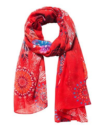 Desigual Damen FULAR_MANDALA Schal, per pack Rot (CARMIN 3000), One Size (Herstellergröße: U)