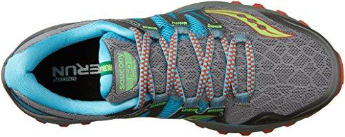 Saucony Xodus Iso, Chaussures de Running Compétition Femme Gris (Grey/blue/slime)