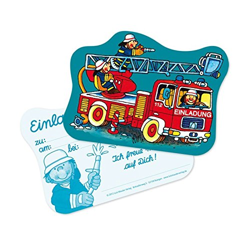 Lutz Mauder 26007 Stanzkarte Einladungs-Set Feuerwehr