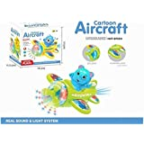 Bump And Go Musical With 4D Light And Sound Toy For Kids Airplane Toy For 6 Month + Kid - Multicolor