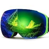 ZIONOR Lagopus X3 motos de nieve Snowboard Skate gafas de esquí con Gran Angular Panorámica 100% de protección UV anti-niebla único imán Lente cambio de diseño