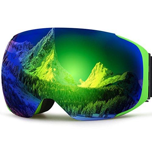 Zionor lagopus x3 snowmobile snowboard skate occhiali da sci con wide angle lente panoramica protezione uv 100% anti nebbia unico magnete lente modifica di progettazione