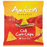 Amaizin Organic Chili Corn Chips 75 g (Pack of 8)