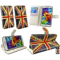 Emartbuy® Samsung Galaxy S5 Brieftaschen Wallet Etui Hülle Case Cover aus PU Leder Union Jack mit Kreditkartenfächern