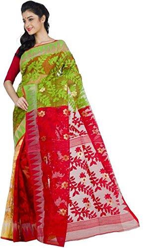 Tjsarees Handloom Silk Saree (Tj500055_Multicolor_Free Size)