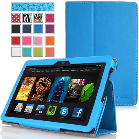 MoKo Amazon Kindle Fire HDX 7 Funda - Slim Soporte Funda para Amazon Kindle Fire HDX 7.0 Pulgadas 2013 Gen Tableta, AZUL (Con Cierre Magnético Para Reposo Automático / NO va a caber el 2012 Fire HD 7 y 2013 Fire HD 7)