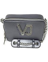 Versace - Bolso de asas para mujer Plateado plata 20 x 13 x 7,5