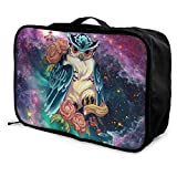 Portable Luggage Duffel Bag Irezumi Owl Travel Bags Carry-on In Trolley Handle
