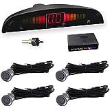 Car Rover® Auto Security System Reverse Backup Car Parking Sensor Sound Alert + LED Display + 4 Sensors Gray