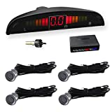 Car Rover® Sensor di Parcheggio radar di sostegno d'inversione con Led Display suono di allarme + 4* 22mm sensori grigio