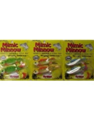 Mimic Minnow Fishing Lure LG Holgraphic Baitfish ONE Pack of 2 Fish ASSORTED COLORS by LG