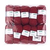 Gründl Lisa Premium Wolle, Polyacryl, Bordeaux, 32 x 27 x 6 cm