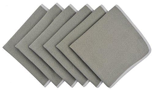 KinHwa Mikrofaser geschirrtücher Reinigungstücher küchentücher Microfasertuch Fenster putzen – Feines Microfaser Fensterputztuch für Scheiben und Spiegel – Glas Putztücher – 30CM X 30CM 6