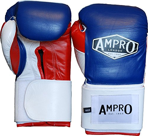 Ampro-Mirage-V2-profesional-velcro-guantes-de-boxeo-azul-marinoblanco-2835-g