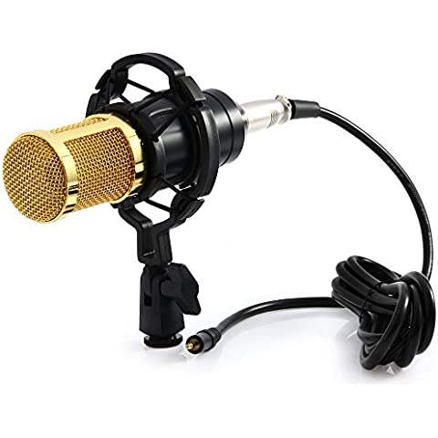 joymod BM – 800 condensatore audio Microfono di registrazione con Shock Mount, ideale per Radio Broadcasting Studio, Voice-Over Sound Studio, registrazione