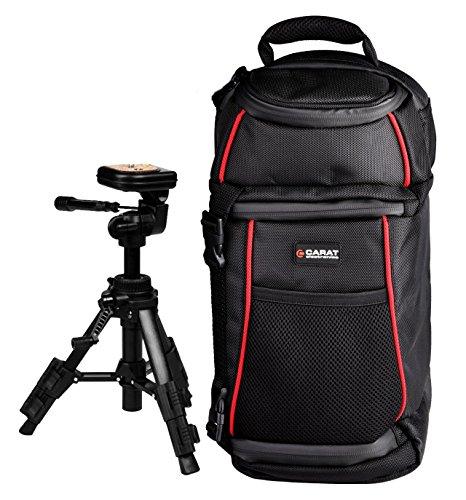 Foto Tasche Kamera Carat Rucksack Tasche mit Reise Stativ PRO für Sony Alpha 6300 6000 5100 5000 A68 A58 (Kamera Tasche A58 Für Sony)