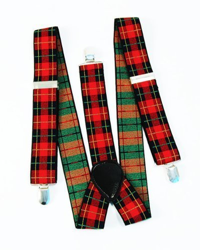 Tartan Punk Braces for Adults. Create a punk look.