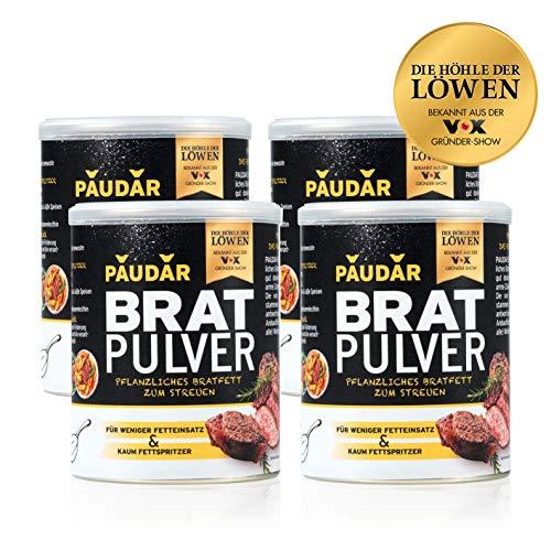 Preisvergleich Produktbild PAUDAR Bratpulver / Vegan,  leicht dosierbar / 100 % pflanzlich,  reduziert Fettspritzer,  fettarme Zubereitung von Fisch,  Fleisch,  Gemüse [4 x 125g]