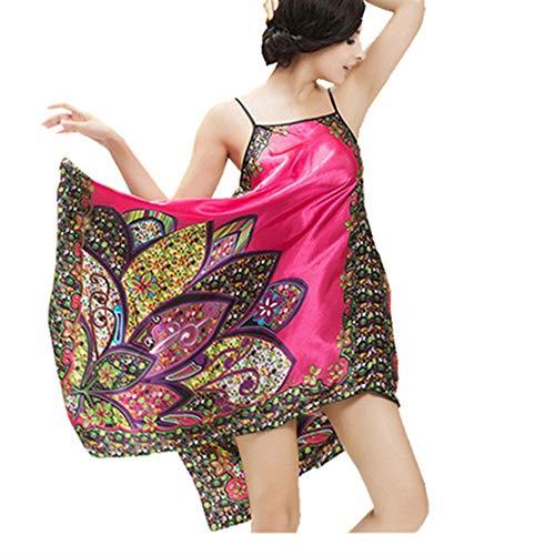 Camisón de Verano de Gran tamaño para Mujer, Pijama Sexy para Mujer,...