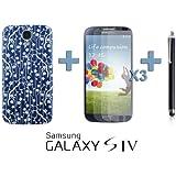 OnlineBestDigital - Carving Pattern Battery Cover / Housse pour Samsung Galaxy S4 IV I9500 / I9505 - Style G avec 3 Film de Protection et Stylet