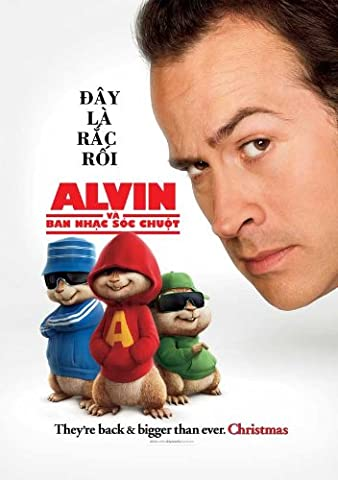 Alvin and the Chipmunks Plakat Movie Poster (27 x 40 Inches - 69cm x 102cm) (2007) Vietnamese