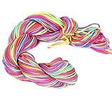 30 Mètres Fil Nylon Cordon Macramé Bijoux Perles 1 mm pour Bracelet Shamballa - Multicolore