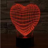 Shuyinju 3D Liebhaber Lampe Asien Globus Herz Led Nachtlicht 7 Farbe Ändern Lamstouch Schalter Dekoration Kreative Lampe