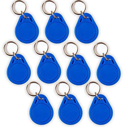 Preisvergleich Produktbild 10 NFC Tag Schlüsselanhänger NTAG215 | 504 Byte | blau