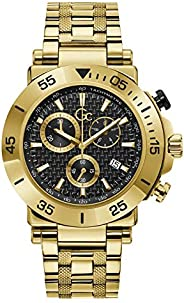 Gc Mens Quartz Watch, Chronograph Display And Stainless Steel Strap - Y70004G2MF