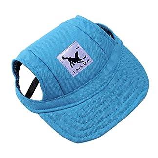 wuayi TAILUP Small Pet Casual Summer Canvas Cap Dog Baseball Visor Hat Puppy Outdoor Sunbonnet Cap (S, B) 21