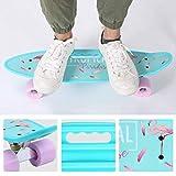 ENKEEO 57cm Mini Cruiser Board Skateboard mit stabilen Deck 4 PU-Rollen für Kinder, Jugendliche und Erwachsene - 8