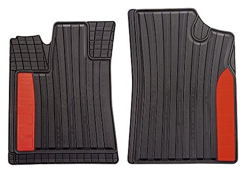 CarFashion 264098 Auto Fussmatten Set ohne Mattenhalter SilverStone - Allwetter, Rot, 2-teilig