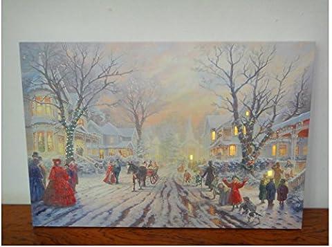 XYLUCKY LED beleuchtete gewickelt Leinwand Galerie Weihnachten Dekoration Landschaftsmalerei , 30*40