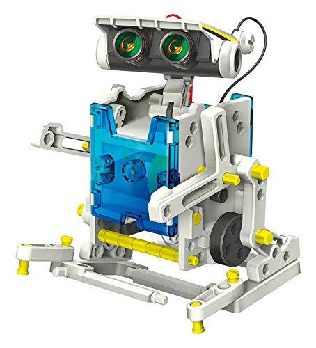 SELVA 14-in-1 Solar-Roboter - Mit nur 1 BAUSATZ (über 200 Bauteile) 14 Verschiedene Modelle Bauen - SOLARPLATTE liefert Energie zur Fortbewegung - C334353