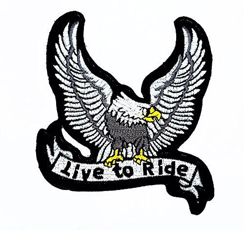 agle Hawk Bird Flying Wildtiere Choppers Patch Live to Ride Kinder Cute Patch für Heimwerker-Applikation Eisen auf Patch T Shirt Patch Sew Iron on gesticktes Badge Schild Kostüm (Realistische Tier-kostüme)