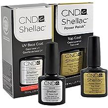 Cnd Shellac Top/Base Esmalte Gel - 1 Paquete de 2 x 7.3 ml - Total: 14.6 ml