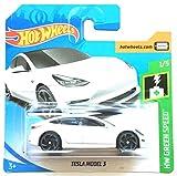 HotWheels FYB50 - Tesla Model 3 weiß (Green Speed 1/5)