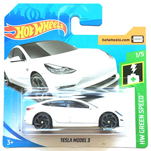 HotWheels FYB50 - Tesla Model 3 weiß (Green Speed 1/5)