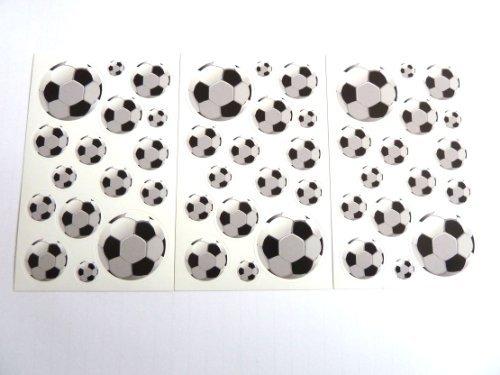 Fußball Aufkleber - Kinder / Kinder Etiketten für party taschen , scrap bücher , karten herstellung oder notizbuch dekoration