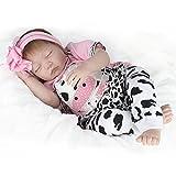 ZELY 55 cm 22 Zoll Reborn Baby Puppe Weich Silikon Vinyl Lebensechte schlafend Mädchen Dolls Magnetisch Mund Real Billig Kinder Spielzeug