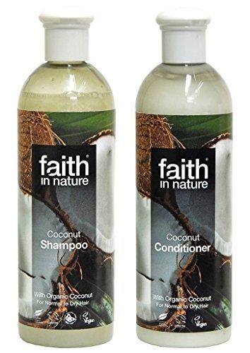 Faith In Nature Kokos-SHAMPOO 400 ml + Faith IN Nature Kokos-spülung 400 ml (SUPER-SPAR PAKET). Bio-SHAMPOO & Organisch Aufbereiter. Enthält Vitamin E und organisch Kokosnuss. Ethischen Haarshampoo & Haar Aufbereiter. Aromatherapie-ätherische Öle Shampoo & Aufbereiter. PREISGEKRÖNTE Bio. KEINE PARABENE ODER SLES. HERGESTELLT IN Großbritannien. VEGAN Shampoo & Aufbereiter. ethischen Verbraucher & Grausamkeit Frei