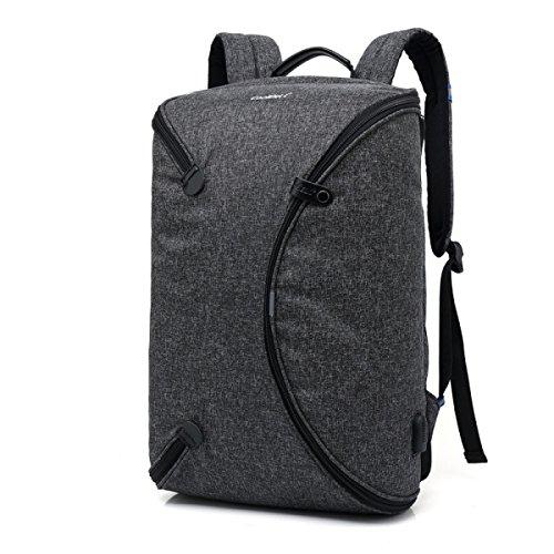 Outdoor-Reisen Sport Rucksack USB-Computer Tasche Zusammenklappbar Rucksack Student Tasche Black
